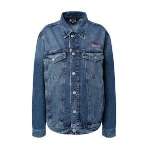 Tommy Jeans Prechodná bunda 'Trucker'  biela / modrá denim / červená