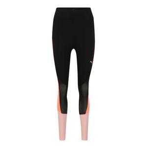 PUMA Športové nohavice  béžová / čierna / lososová