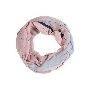 TOM TAILOR DENIM Látkové rúško  svetlomodrá / staroružová / perlovo biela