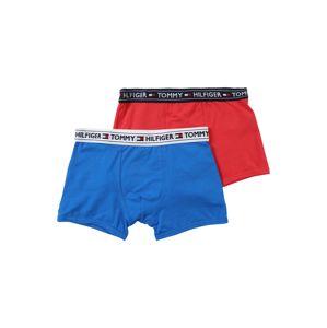 Tommy Hilfiger Underwear Nohavičky '2P TRUNK Boys'  modrá / červená