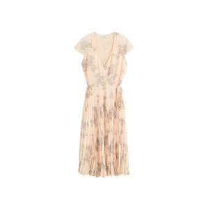 MANGO Letné šaty  béžová / fialová / zelená