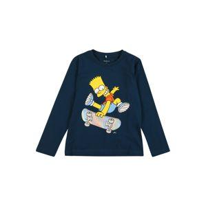 NAME IT Tričko 'Simpsons Jokke'  tmavomodrá / žltá / modrá / oranžová