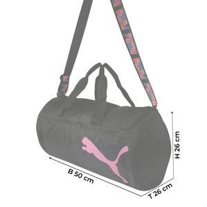 PUMA Športová taška  čierna / ružová