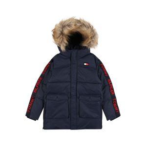 TOMMY HILFIGER Zimná bunda 'ARCTIC TAPE'  tmavomodrá / svetločervená