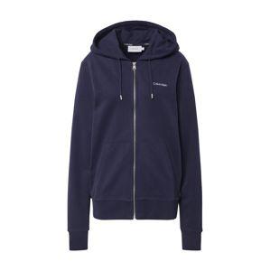 Calvin Klein Tepláková bunda  námornícka modrá