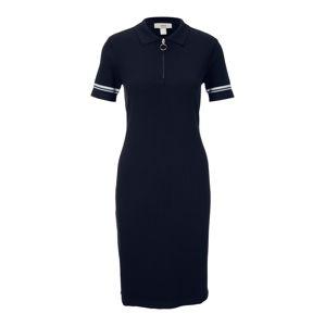 heine Pletené šaty  biela / námornícka modrá