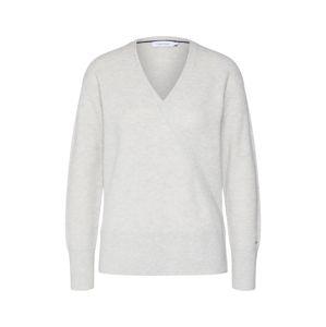 Calvin Klein Pullover 'LS WRAP'  svetlosivá