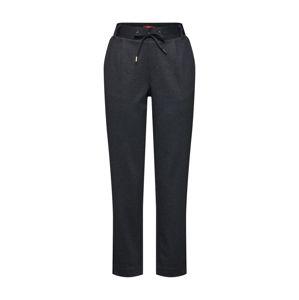 s.Oliver Plisované nohavice  čierny denim / sivý denim