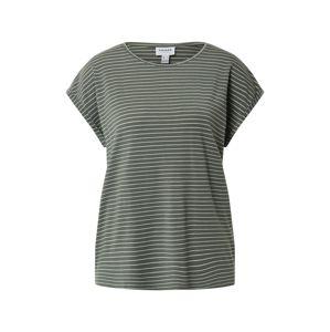 VERO MODA Tričko 'Ava'  zelená / biela
