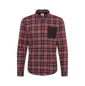 EDC BY ESPRIT Košeľa 'F flannel check'  červená / čierna