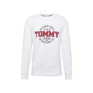 Tommy Jeans Mikina 'TJM CIRCULAR CREW'  tmavomodrá / červené / biela