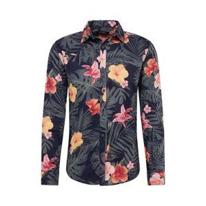 SHINE ORIGINAL Košeľa 'Floral AOP'  svetločervená / námornícka modrá / ružová
