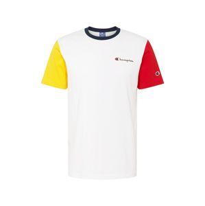 Champion Authentic Athletic Apparel Funkčné tričko  biela / červená / žltá / modrá
