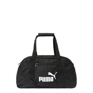 PUMA Športová taška 'Phase'  čierna / biela