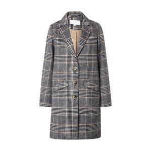 VILA Prechodný kabát  sivá / šedobiela