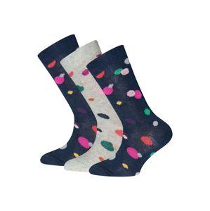 EWERS Ponožky  tmavomodrá / svetlosivá / svetloružová / svetlozelená / zmiešané farby