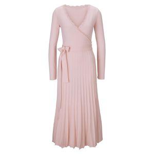 heine Pletené šaty  pastelovo ružová