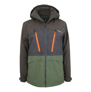 PROTEST Športová bunda 'BUSTON'  čierna / zelená / oranžová