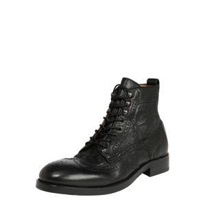 Hudson London Šnurovacie čižmy 'Sherwood'  čierna