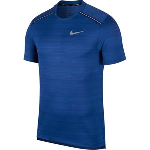 NIKE Funkčné tričko 'Dry Miller'  strieborná / kráľovská modrá