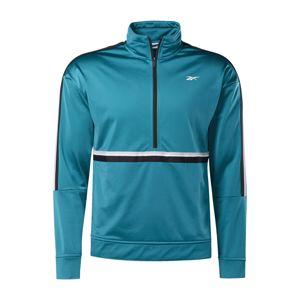 REEBOK Športová bunda  pastelovo modrá / čierna / biela
