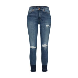 7 for all mankind Džínsy 'HW SKINNY CROP UNROLLED SLIM'  modrá denim