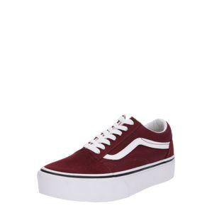 VANS Sneaker 'Old Skool Platform'  bordové / biela