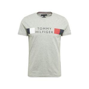 TOMMY HILFIGER Tričko  sivá / modré / červené / biela