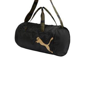 PUMA Športová taška  čierna / zlatá