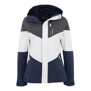 O'NEILL Outdoorová bunda 'Coral'  biela / tmavomodrá / sivá