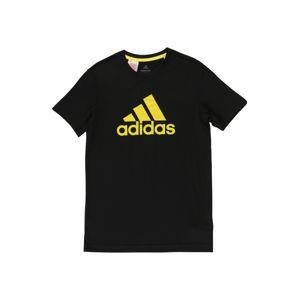 ADIDAS PERFORMANCE Funkčné tričko 'JB TR PRIME TEE'  žltá / čierna