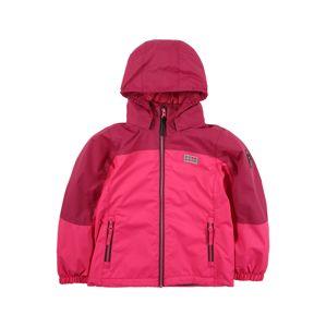 LEGO WEAR Prechodná bunda  tmavoružová / ružová