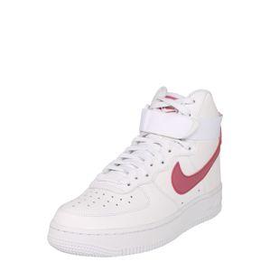 Nike Sportswear Členkové tenisky 'Air Force 1'  červená / biela
