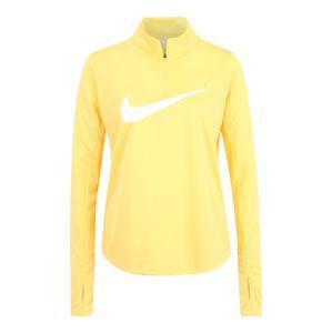 NIKE Funkčné tričko  biela / žltá