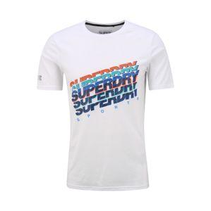 Superdry Funkčné tričko  biela / modrá