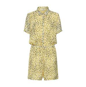 minimum Jumpsuit 'Britane'  biela / žlté / čierna