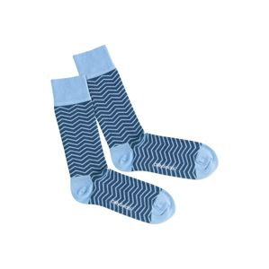 DillySocks Ponožky 'Square Wave'  modré / svetlomodrá