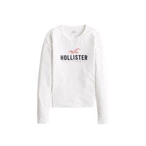 HOLLISTER Tričko 'TIMELESS'  biela / ružová / námornícka modrá