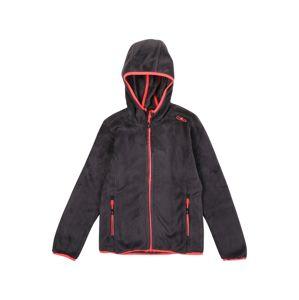 CMP Funkčná flisová bunda  čierna / červená