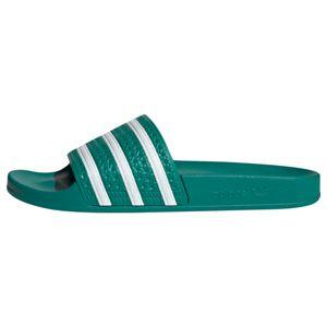 ADIDAS ORIGINALS Plážové / kúpacie topánky 'Adilette'  smaragdová / biela