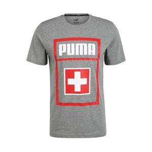 PUMA Funkčné tričko  sivá / svetločervená