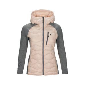 PEAK PERFORMANCE Outdoorová bunda 'WHELIHYBH J'  sivá / ružová