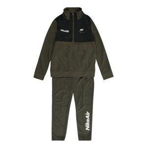Nike Sportswear Joggingová súprava  čierna / kaki / biela