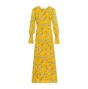IVY & OAK Letné šaty 'Chiffon Midi Dress'  žlté / zmiešané farby