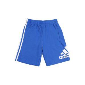 ADIDAS PERFORMANCE Športové nohavice  modré / biela
