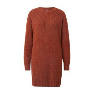 Noisy may Pletené šaty 'Jimma'  hrdzavo červená
