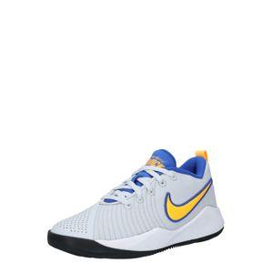 NIKE Športová obuv 'Team Hustle Quick 2'  žltá / svetlosivá / biela
