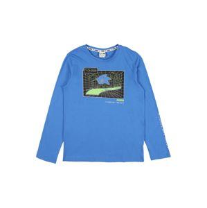 PUMA Funkčné tričko  nebesky modrá / antracitová / svetlozelená
