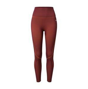 REEBOK Športové nohavice  vínovo červená / oranžová