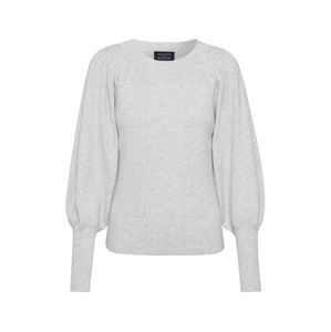 SELECTED FEMME Sveter 'SLFTINE LS KNIT O-NECK B'  svetlosivá